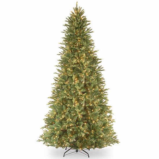 National Tree Co. 9 Foot Tiffany Fir Slim Fir Pre-Lit Christmas Tree