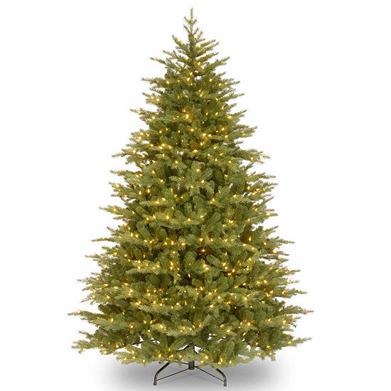 National Tree Co. 7 1/2 Foot Nordic Spruce Hinged Spruce Pre-Lit Christmas Tree