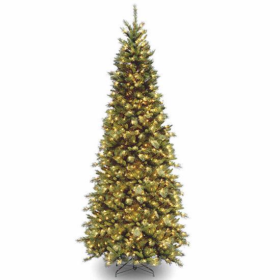 National Tree Co. 9 Foot Tiffany Slim Fir Fir Pre-Lit Christmas Tree - National Tree Co. 9 Foot Tiffany Slim Fir Fir Pre-Lit Christmas Tree