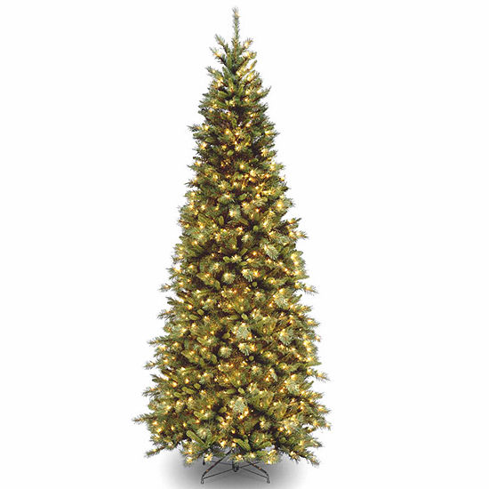 National Tree Co. 9 Foot Tiffany Slim Fir Fir Pre-Lit Christmas Tree