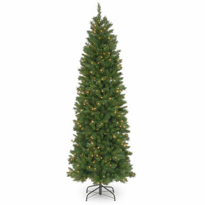 National Tree Co. 7 1/2 Foot Pennington Fir Pencil Pre-Lit Christmas Tree