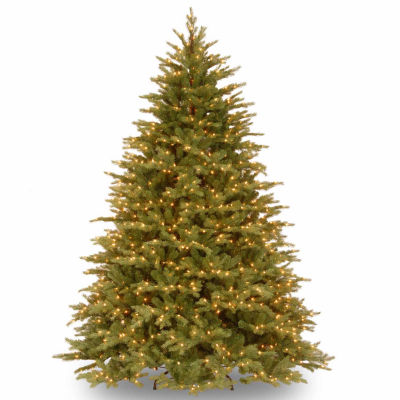 National Tree Co. 7 1/2 Foot Nordic Spruce Hinged Pre-Lit Christmas Tree