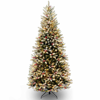 National Tree Co. 7 1/2 Foot Dunhill Fir Slim Hinged Pre-Lit Christmas Tree