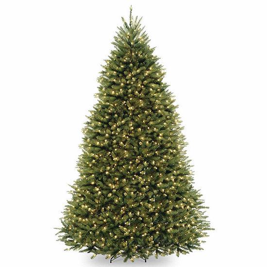 National Tree Co. 9 Foot Dunhill Fir Hinged Fir Pre-Lit Christmas Tree