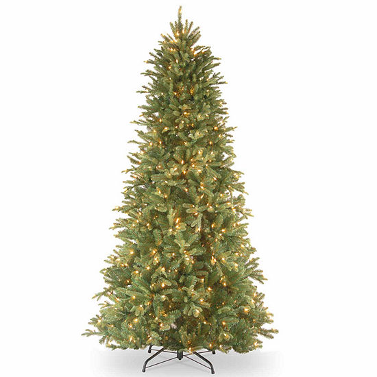 National Tree Co. 7 1/2 Foot Tiffany Fir Slim Fir Pre-Lit Christmas Tree