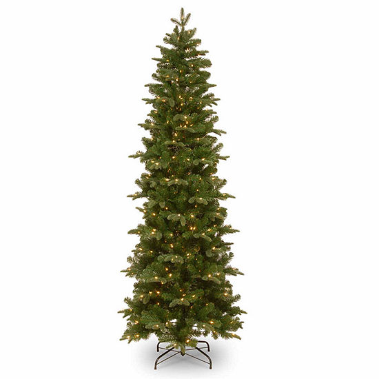 National Tree Co. 7 1/2 Foot Prescott Pencil Slim Pre-Lit Christmas Tree