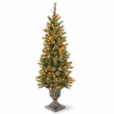 National Tree Co. 4 Foot Glistening Pine Entrance Pine Pre-Lit Christmas Tree