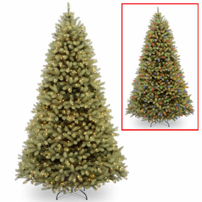 National Tree Co. 10 Foot Downswept Douglas Fir Hinged Fir Pre-Lit Christmas Tree