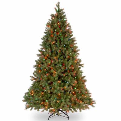 National Tree Co. 6 1/2 Foot Downswept Douglas Fir Hinged Fir Pre-Lit Christmas Tree