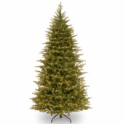 National Tree Co. 7 1/2 Foot Nordice Spruce Slim Hinged Pre-Lit Christmas Tree