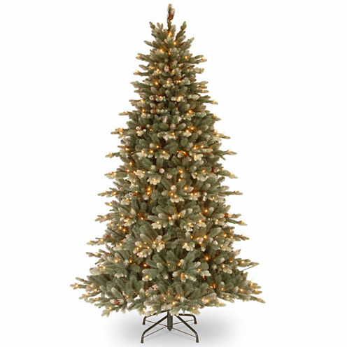 National Tree Co. 7 1/2 Foot Copenhagen Blue Spruce Hinged Pre-Lit Christmas Tree