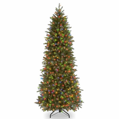 National Tree Co. 7 1/2 Foot Jersey Frasier Pencil Slim Fir Pre-Lit Christmas Tree