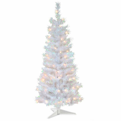 National Tree Co. 4 Foot White Iridescent Pre-Lit Christmas Tree