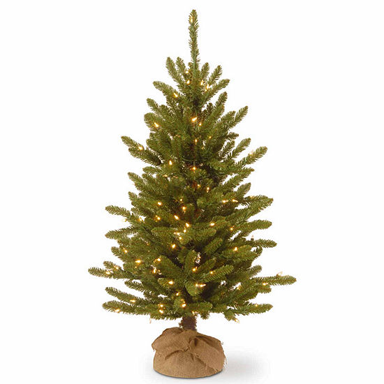 National Tree Co. 4 Foot Kensington Burlap Pre-Lit Christmas Tree