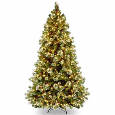 National Tree Co. 7 1/2 Foot Wintry Pine Pine Pre-Lit Christmas Tree