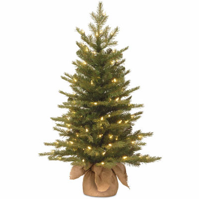 National Tree Co. 3 Foot Nordic Spruce Pre-Lit Christmas Tree