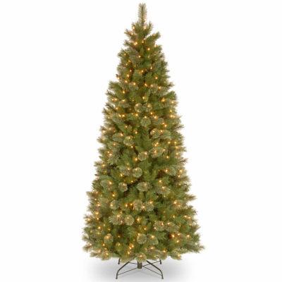 National Tree Co. 7 1/2 Foot Tacoma Pine Slim Pre-Lit Christmas Tree