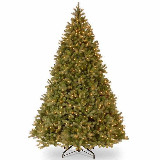 National Tree Co 10 Foot Downswept Douglas Fir Hinged Fir Pre Lit Christmas Tree