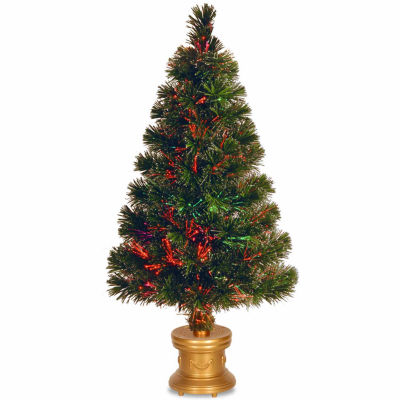National Tree Co. 2 Foot Evergreen Firework Pre-Lit Christmas Tree