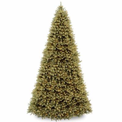 National Tree Co. 12 Foot Downswept Douglas Fir Hinged Fir Pre-Lit Christmas Tree