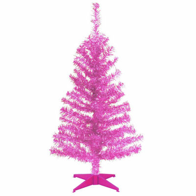 National Tree Co. 3 Foot Pink Tinsel Christmas Tree