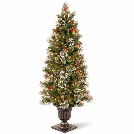 National Tree Co. 5 Foot Wintry Pine Pine Pre-Lit Christmas Tree