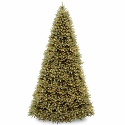 National Tree Co. 12 Foot Downswept Douglas Fir Hinged Pre-Lit Christmas Tree