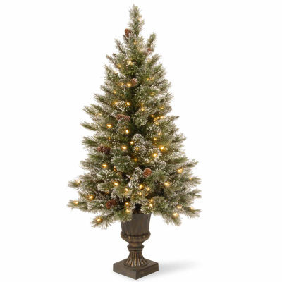 National Tree Co. 5 Foot Glitterly Bristle Pine Pre-Lit Christmas Tree