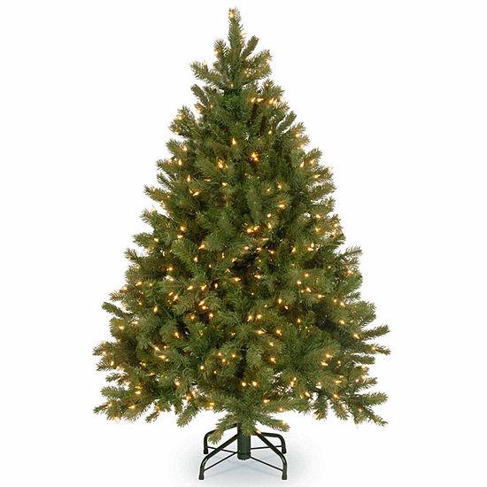 National Tree Co. 4 1/2 Foot Downswept Douglas Fir Hinged Fir Pre-Lit Christmas Tree