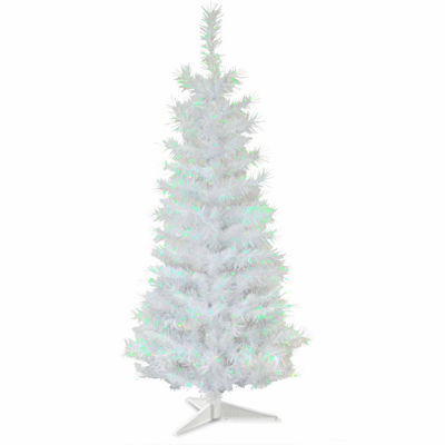 National Tree Co. 3 Foot White Iridescent Tinsel Christmas Tree