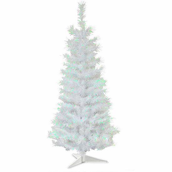 Tinsel Christmas Tree.National Tree Co 3 Foot White Iridescent Tinsel Christmas Tree