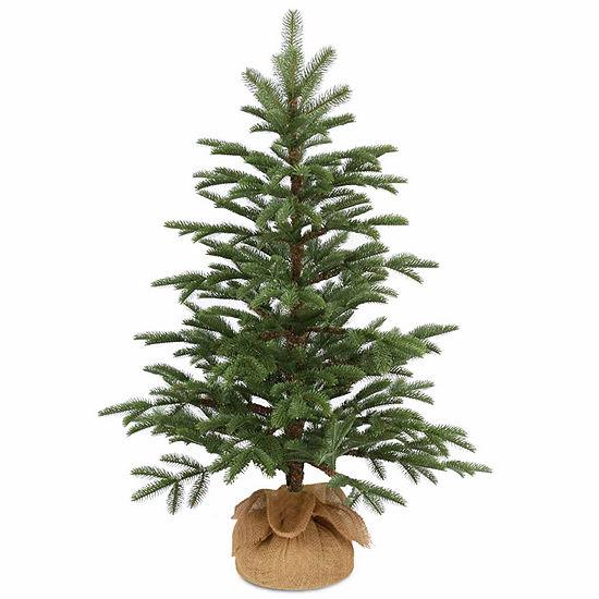 National Tree Co. 3 Foot Norwegian Seeding Small Burlap Christmas Tree