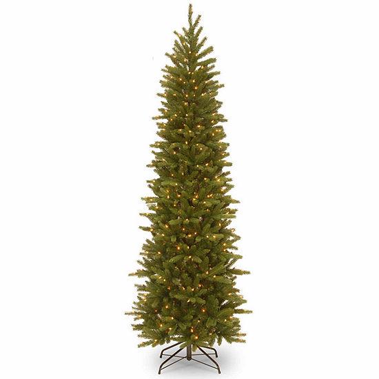 Jc Penney Christmas Trees: National Tree Co. 7 1/2 Foot Grande Fir Pencil Slim Hinged