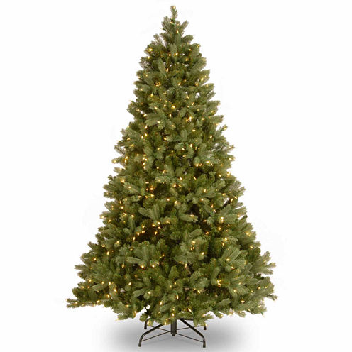 National Tree Co. 7 1/2 Foot Downswept Douglas Fir Hinged Pre-Lit Christmas Tree