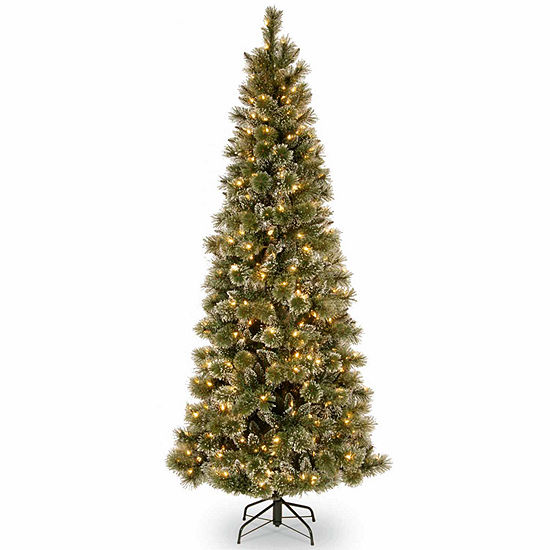 National Tree Co. 7 1/2 Foot Glittery Bristle Pine Pine Pre-Lit Christmas Tree