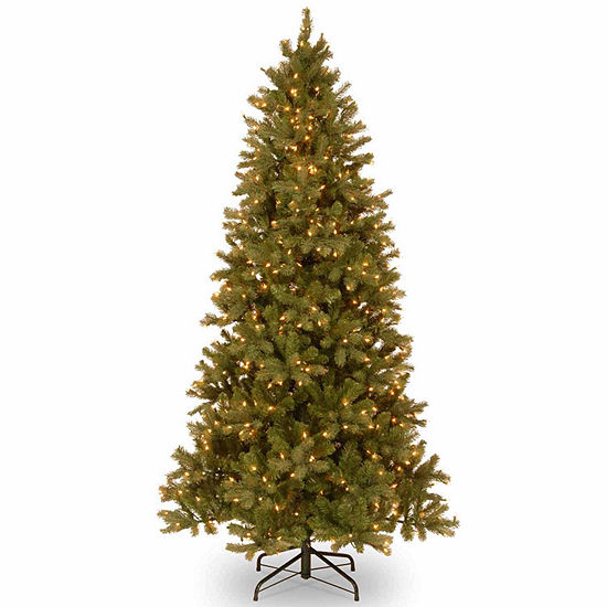 National Tree Co. 7 1/2 Foot Downswept Douglas Fir Slim Hinged Fir Pre-Lit Christmas Tree