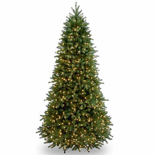 National Tree Co. 7 1/2 Foot Jersey Fraser Slim Fir Pre-Lit Christmas Tree
