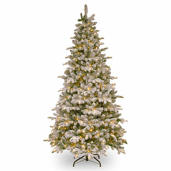 National Tree Co. 7 1/2 Foot Snowey Everest Fir Fir Pre-Lit Christmas Tree