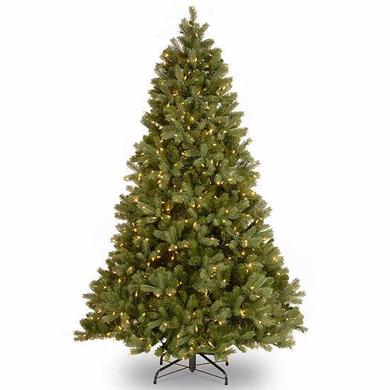 National Tree Co. 7 Foot Downswept Douglas Fir Hinged Fir Pre-Lit Christmas Tree