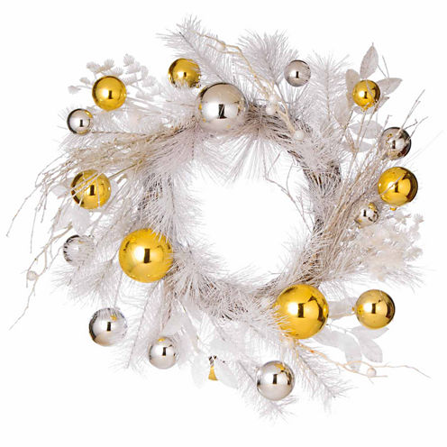 National Tree Co. Snow White Evergreen Indoor/Outdoor Christmas Wreath