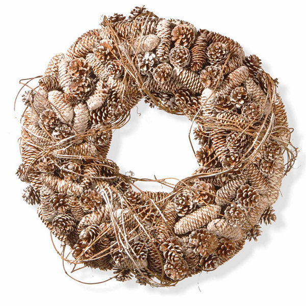 National Tree Co. White Tipped Pine Cone Christmas Indoor/Outdoor Christmas Wreath