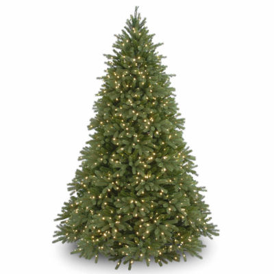 National Tree Co. 9 Foot Jersey Fraser Fir Hinged Pre-Lit Christmas Tree