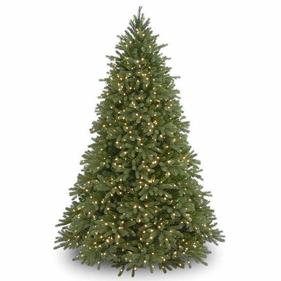 National Tree Co. 9 Foot Jersey Fraser Fir Hinged Fir Pre-Lit Christmas Tree
