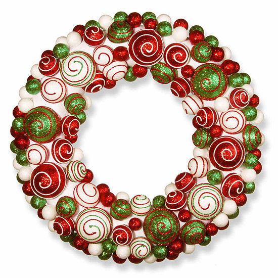 National Tree Co. Mixed Ornament Indoor/Outdoor Christmas Wreath