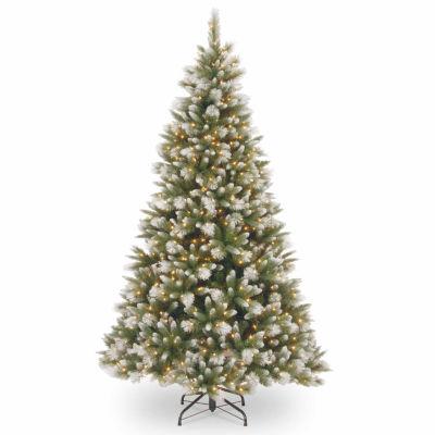 National Tree Co. 7 1/2 Foot Frost-Alaskan Pine Hinged Pre-Lit Christmas Tree