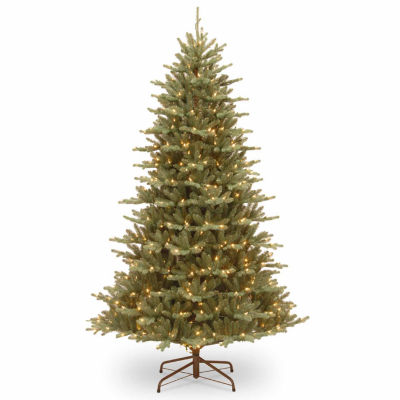 National Tree Co. 7 1/2 Foot Feel-Real Asbury Blue Spruce Pre-Lit Christmas Tree