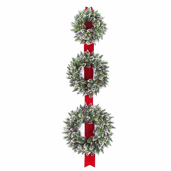 National Tree Co Sparkling Glittered Tips Indoor Outdoor Christmas Wreath