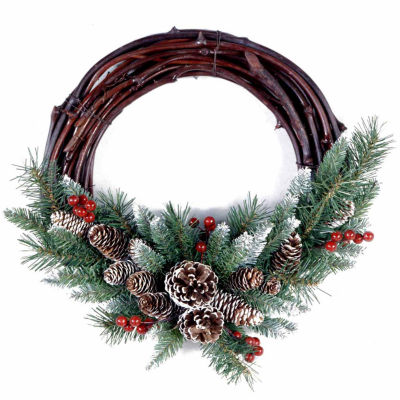 National Tree Co. Frosted Grapevine Indoor/Outdoor Christmas Wreath