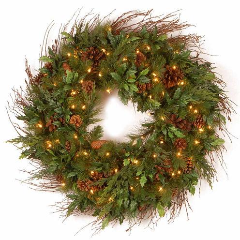 National Tree Co. Juniper Mix Pine Indoor/Outdoor Christmas Wreath