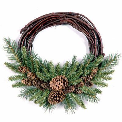 National Tree Co. Pine Cone Indoor/Outdoor Christmas Wreath